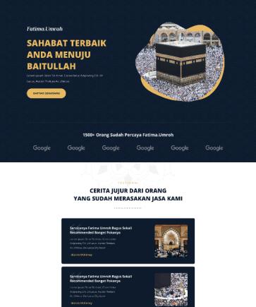 Jasa Pembuatan Landing Page Website Grafiloka Studio